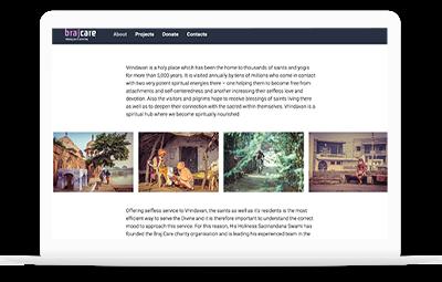 Webprojekt Brajcare