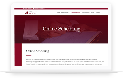 Web Projekt Kanzlei Studt